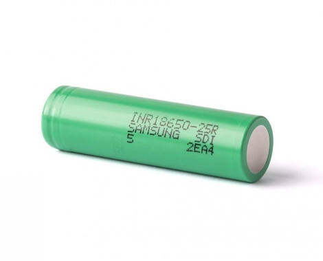 Аккумулятор 18650 Samsung INR 25R 2500 mAh 20A 3.7V