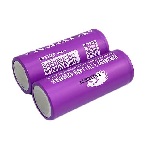 Аккумуляторная батарея IMREN 26650 4200mah 60a