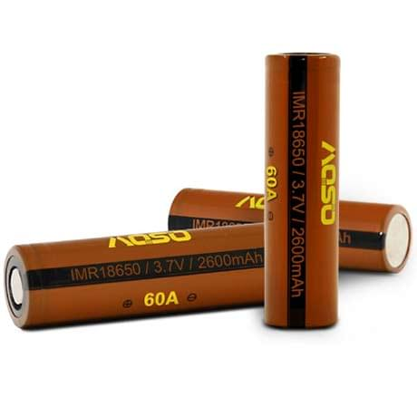 Аккумуляторная батарея Aoso 18650 2500 mAh 40A