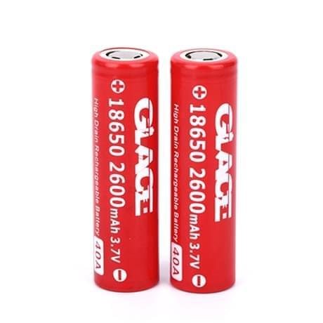 Аккумуляторная батарея Glace 18650 2600mah 40A