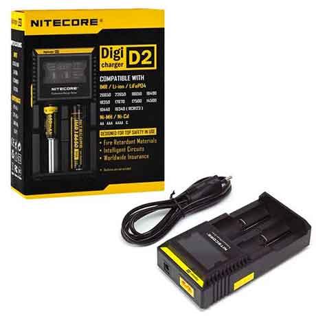 Зарядное устройство для аккумуляторных батарей Nitecore Digicharger D2 220v на 2шт