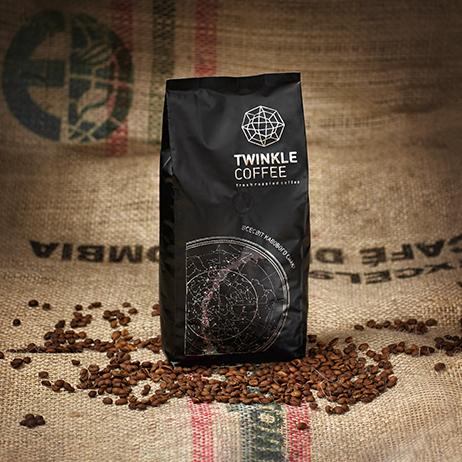 "Кофе в зернах Tweenkle Coffee ""TWINKLE"" blend Купаж:Араб/Робус 70/30 1кг"