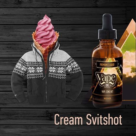 Жидкость для электронных сигарет Vape Zone: Cream Svitshot 30 мл