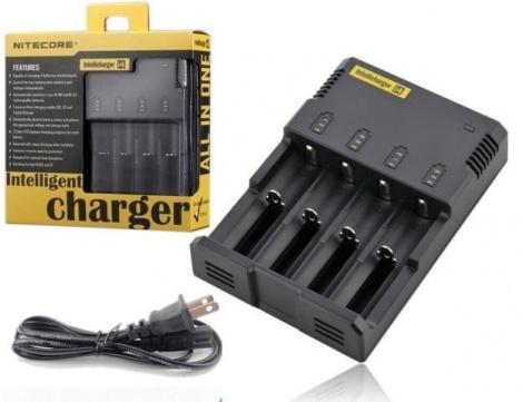 Зарядное устройство для аккумуляторных батарей Nitecore i4  220v на 4шт с дисплеем